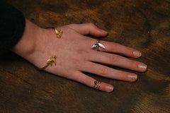 Gold Flower Stack Ring, Roz Buehrlen Alternate View