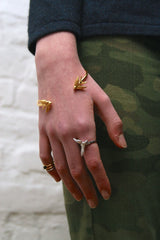 Gold Statement Swallow Ring, Roz Buehrlen Alternate View