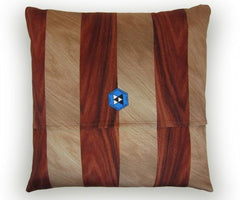 CUBE 6 - Wood Veneer Print Cushion, ROCKMAN & ROCKMAN Alternate View