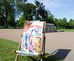 Ronnie Wood Deckchair, The Royal Parks Foundation Alternate View