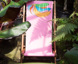 Michael Craig Martin Deckchair, The Royal Parks Foundation - CultureLabel - 3 (surrounded by foliage)