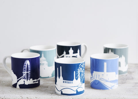 Set Of Six River Series Mugs - CultureLabel - 1