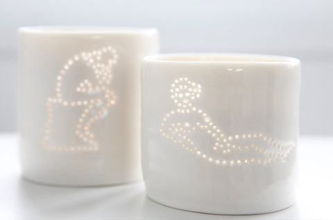 Rodin & Manet Tealights, Luna Lighting - CultureLabel