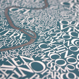 Map of Rome, Ursula Hitz - CultureLabel - 2 (close up)