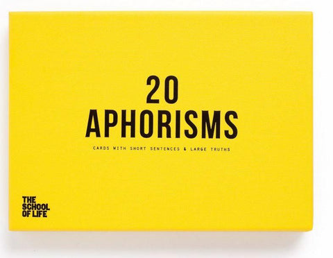 20 Aphorisms, School of Life