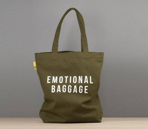 Emotional Baggage Tote: Khaki, The School of Life