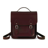 Small Portrait Oxblood Leather Backpack, The British Library - CultureLabel