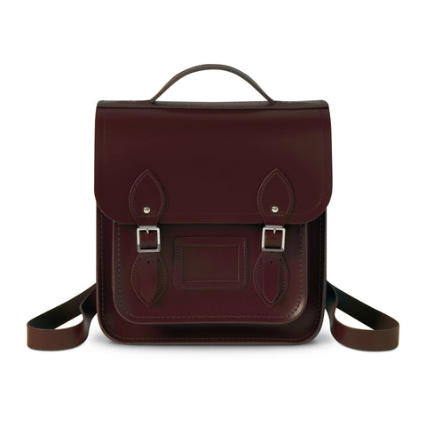 Small Portrait Oxblood Leather Backpack, The British Library