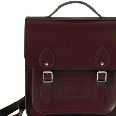 Small Portrait Oxblood Leather Backpack, The British Library Alternate View