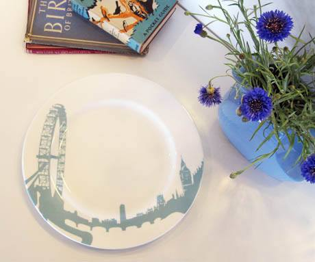 London Eye Charger Plate, Snowden Flood Alternate View