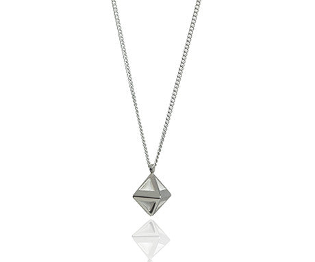 Octahedron Pendant in Silver, Stephanie Ray