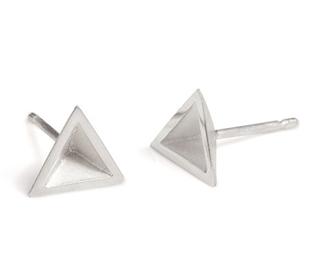 Pyramid Studs in Silver, Stephanie Ray - CultureLabel