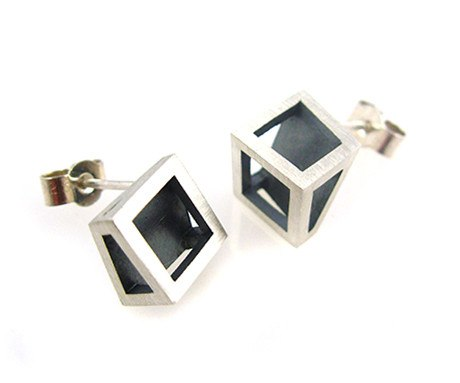 Split Cube Studs, Stephanie Ray - CultureLabel