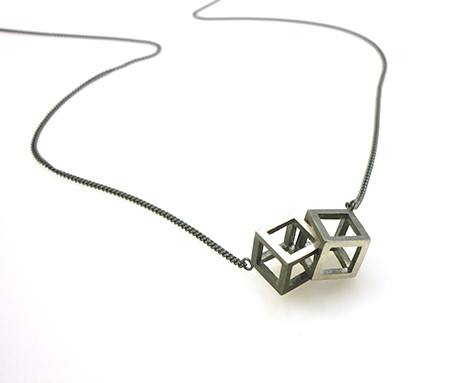 Double Cube Necklace, Stephanie Ray