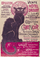 Poster advertising an exhibition of the 'Collection du Chat Noir' 1898, Theophile Alexandre Steinlen Alternate View