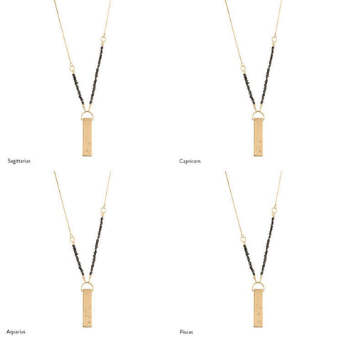 Gold Zodiac Constellation Necklace, No 13 - CultureLabel - 1