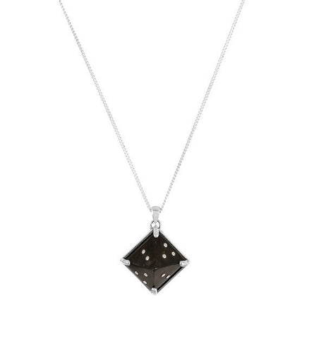 Sami Black Pyramid Pendant Necklace, No 13