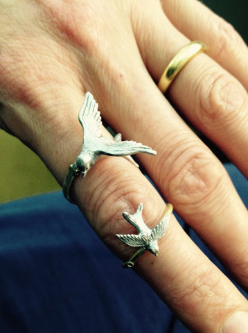 Silver Swallow Ring, Roz Buehrlen Alternate View