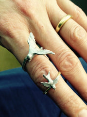 Silver Statement Swallow Ring, Roz Buehrlen Alternate View
