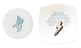 Dove Plate (Large) and Lightning Plate Set, Kim Sera - CultureLabel