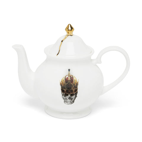 Skull in Red Crown Teapot, Melody Rose - CultureLabel