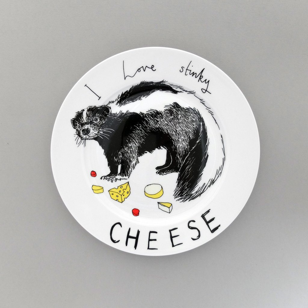 I Love Stinky Cheese Side Plate, Jimbobart - CultureLabel - 1