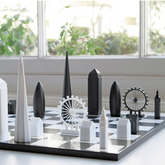 London Skyline Chess Set, The British Library Alternate View