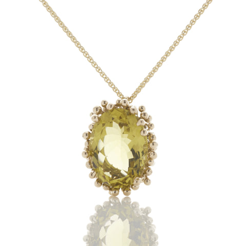 Small Lemon Quartz Pendant, Yen Jewellery - CultureLabel - 1