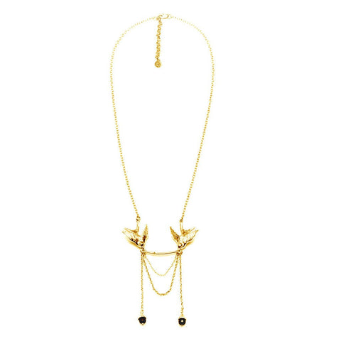 Gold Swallow Statement Necklace, Roz Buehrlen - CultureLabel - 1