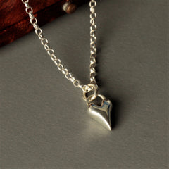 Handmade Wild at Heart Sterling Silver Heart Necklace, Pretty Wild Jewellery