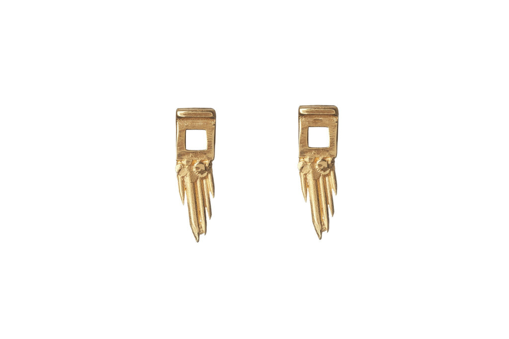 Gold Sungun Earrings, Ros Millar - CultureLabel - 1