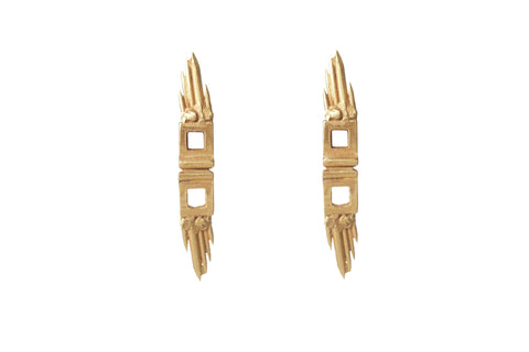 Gold Skyflight Earrings, Ros Millar