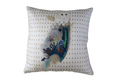Summer Owl Maxi Cushion, Little Wolf