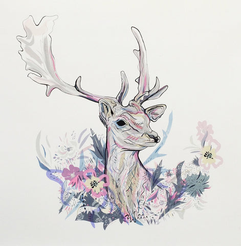 Floral Stag, Susie Wright