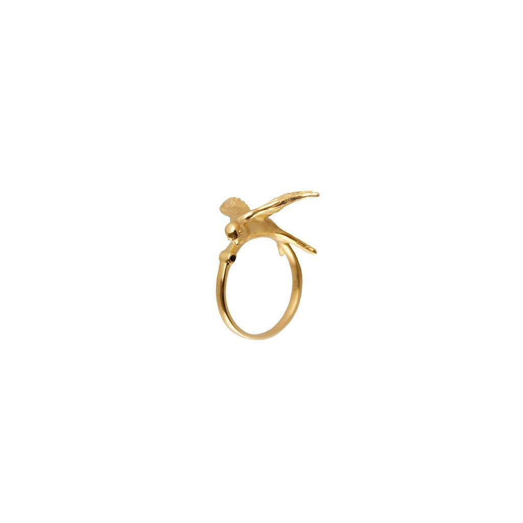 Gold Statement Swallow Ring, Roz Buehrlen - CultureLabel - 1