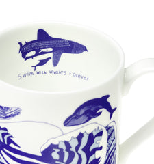 Swim With Whales Forever Mug, ARTHOUSE Meath Alternate View