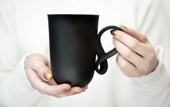 Black Porcelain Mobius Mug, ENDE Ceramics Alternate View