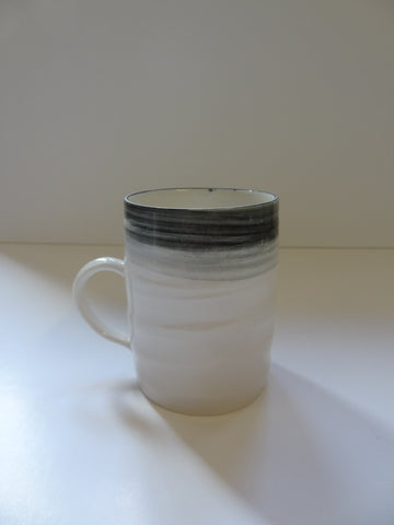 Medium Black and White Mug, Kyra Cane Alternate View