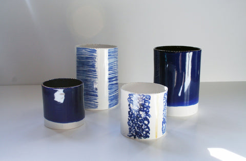 Cobalt Ceramic Tea Light Holder , Rebecca Killen