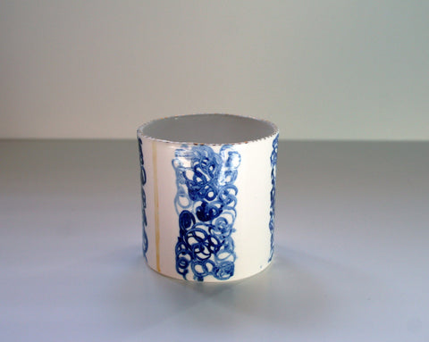 Cobalt Ceramic Tea Light Holder , Rebecca Killen - CultureLabel