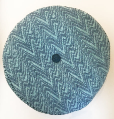Teal Marble Pattern Cushion, Janie Withers