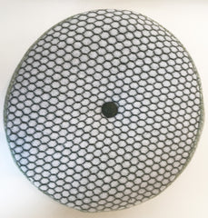 Olive Honeycomb Pattern Round Cushion, Janie Withers