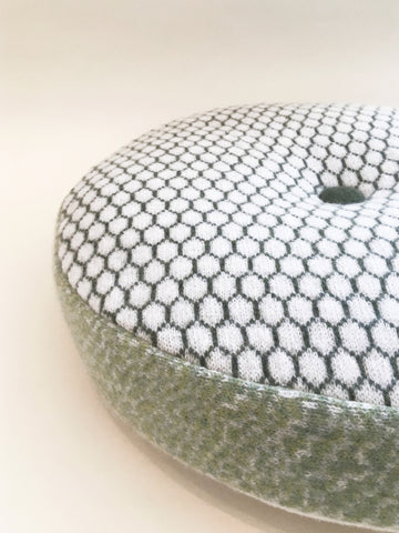 Olive Honeycomb Pattern Round Cushion, Janie Withers Alternate View