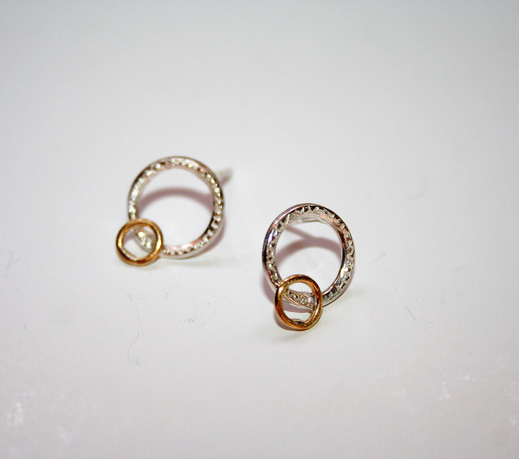 Silver Circle Studs, Adele Taylor - CultureLabel - 1