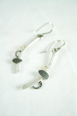 Silver Drop Pendant Earrings, Adele Taylor Alternate View