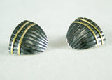 Oxidised Silver Stud Earrings, Adele Taylor