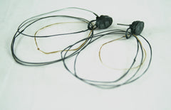 Oxidised Silver and Gold Loop Earrings, Jennie Gill