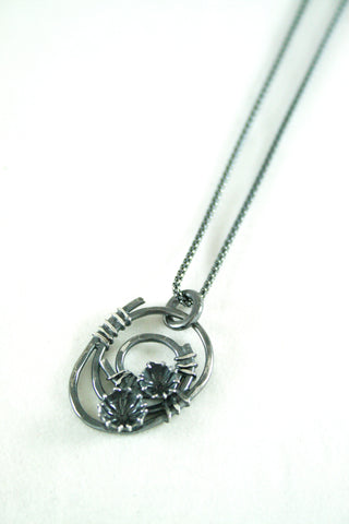 Silver and Oxidised Silver Spiral Wrap Pendant, Adele Taylor - CultureLabel