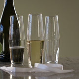 TOAST Set of 4 Champagne Glasses, HUTA