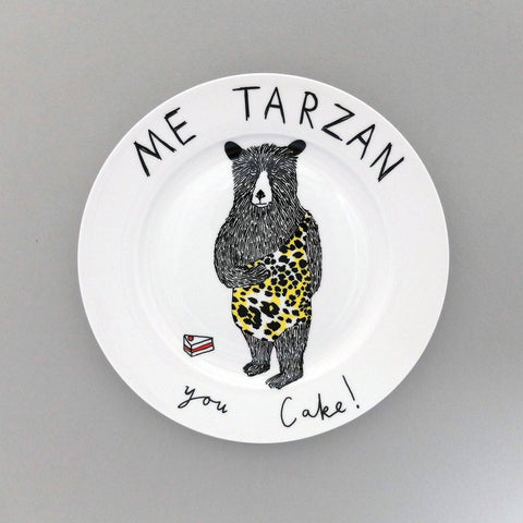 Me Tarzan, You Cake Side Plate, Jimbobart - CultureLabel - 1
